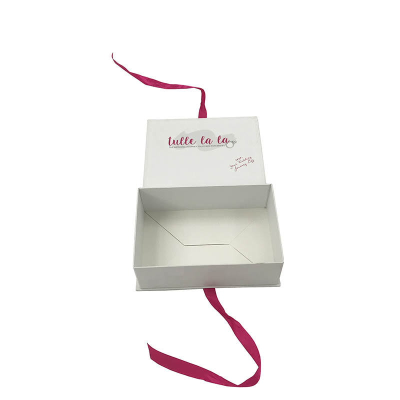Best Selling Custom Logo Wedding Journey Tulle Box For Brides