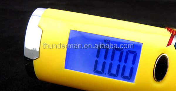 Newly Design 50kg Digital travel luggage scale with LED blue backlight