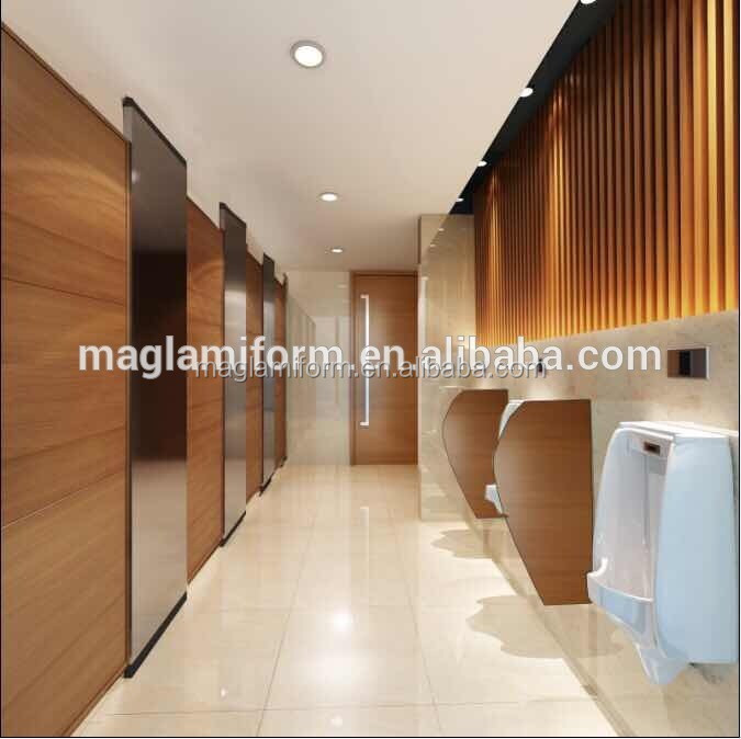 Commerical high quality phenolic 12mm hpl board wood toilet partition