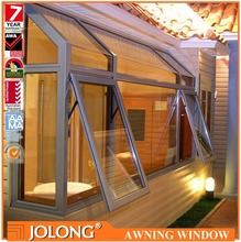 Premium American Standard Thermal Break Profile Double Toughened Glass Customized Aluminum Awning Window with Decorative Grilles