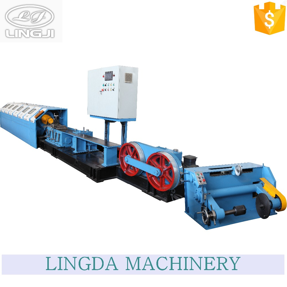 Low noise outer take-up metal wire rope cradle type stranding machine with large-bearing