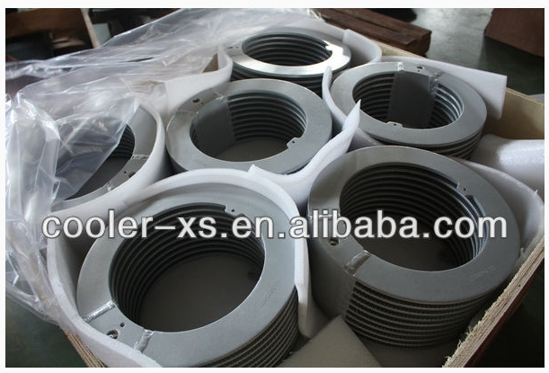 aluminum bar-plate round air cooler / CAC for compressor, centrifugal