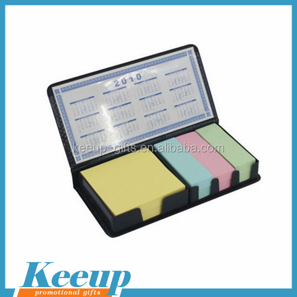 Combined colorful memo pad with calender for promotional gifts