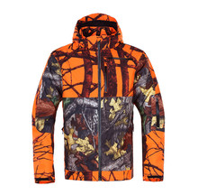 Wholesale winter outdoorwear blaze camouflage hunting jacket