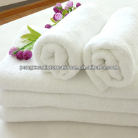 100% cotton luxury custom terry white fancy bath towels for hotel