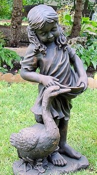 Statue - Little Girl with Duck statute