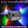 1W RGB Full Color Laser Light , High Power 1W RGB Animation Laser Projector , Dj Disco Club Stage Christmas Show Laser