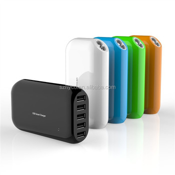 5 ports USB Smart Charger with smart IC, usb wall charger with 5V 8A output
