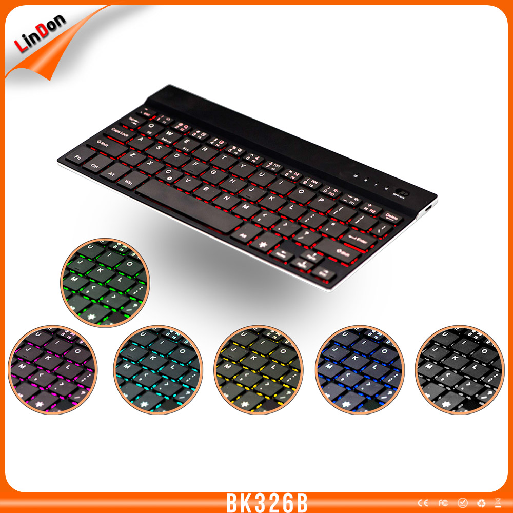 New Style Human Design Custom Backlit Aluminum Wireless Keyboard for tablet PC BK326B