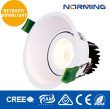 2700K LED Ceiling Downlight White Finish 80mm Cutout Reflector