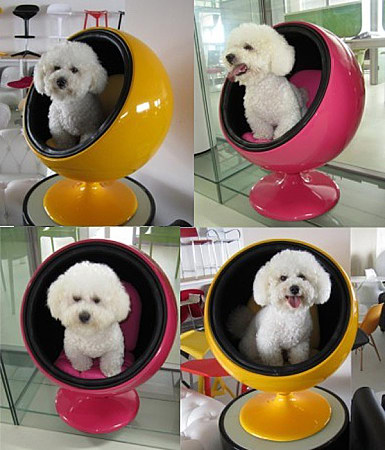 wholesale factory price fiberglass ball shape pet house