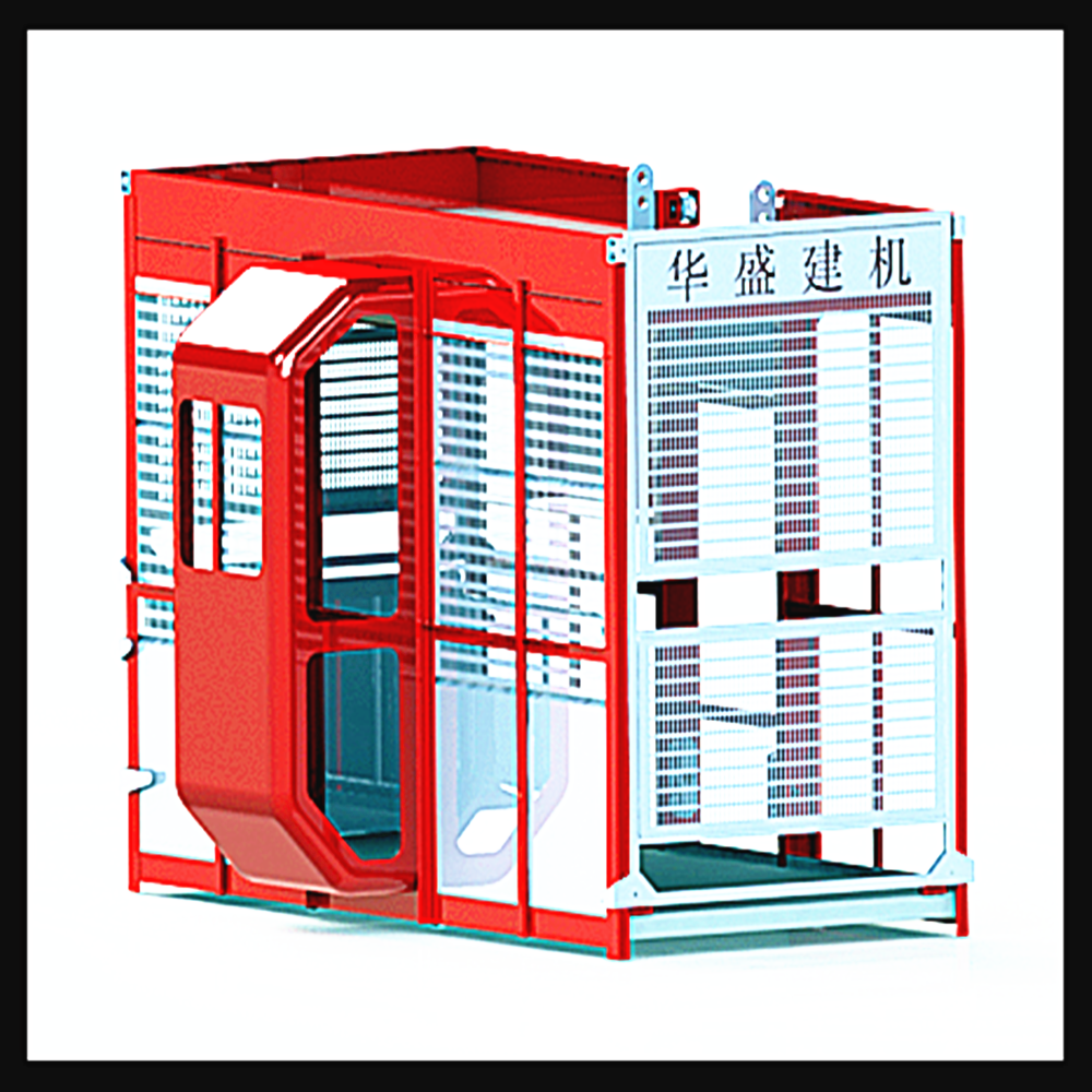 Cheap Passengers and materials building temporary elevator with Double cradles