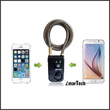 Free app for android and IOS system bluetooth smart glass door lock u bike lock