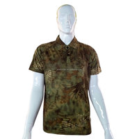 ISO9001 Python camo softtextile polo mens army t shirt