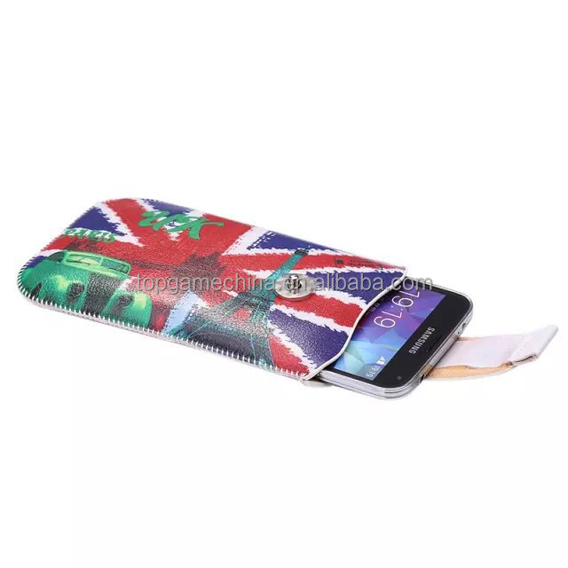 uk flag design leather Case with Credit Card Slots & Belt for iPhone 6