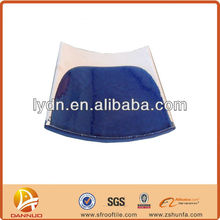 Low water absorption blue terracotta flat smooth roofing tiles