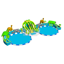 Customzied big dinosaur inflatable water park slide pool,inflatable dragon water park