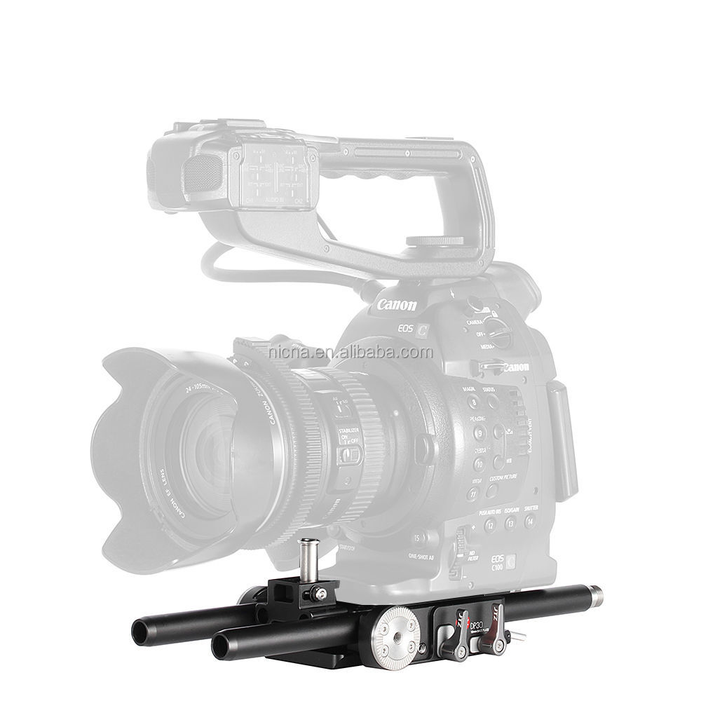 JTZ DP30 <strong>Camera</strong> Cage Baseplate Rig For Canon Cinema EOS <strong>C100</strong> C300 C500 Mark II 2