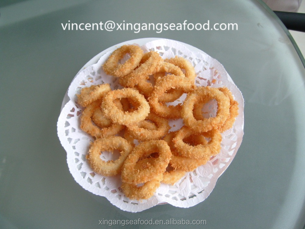 Frozen Todarodes Breaded Squid rings