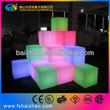 led furniture! LED cube Chair 40*40*40CM Hot bar stool LED lighting furniture