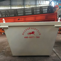 Municipal waste garbage hook lifting construction waste collection dump truck Australia metal marrel skip bins containers price