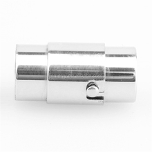 Silver Stainless Steel Plain Magnetic Clasp Snap Lock 3/4/6mm For DIY Jewelry Necklace Bracelet Finding