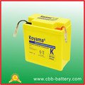 Sealed MF lead acid motorcycle battery KBT6N6(12V6AH)