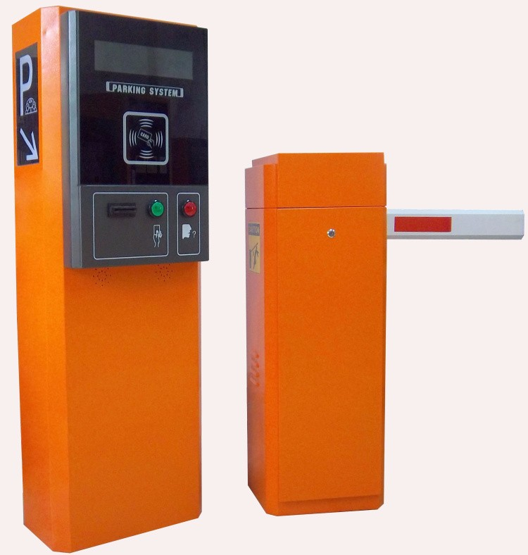 Yellow Business Centre Discount Parking RFID Card Vending Machine/IC Card Dispenser With 2-6M Barrier Gate For Access Control