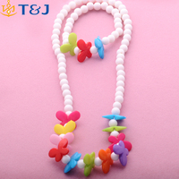 >>>2016 New arrival children kids accessories Acrylic flower girl kids necklace bracelet jewelry sets/