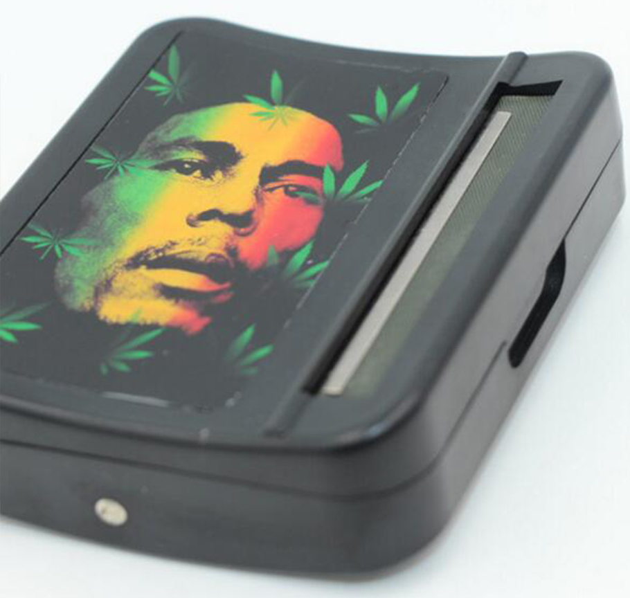 Stainless Steel Chrome Plate Top Selling Tobacco Roller Case, 70 mm Rolling Cigarette Tobacco Box