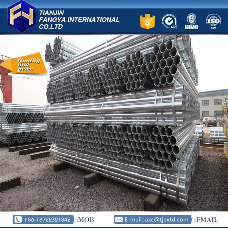 GI Pipes ! hot dippped galvanized steel pipe price zinc coated pipe/mill/plant made in China