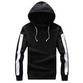 Brand Clothing Men Hoodies With Patchwork Sleeve Fleece Jacket Casual Black Cotton Hooded Mens Sweatshirt Cotton Hip Hop