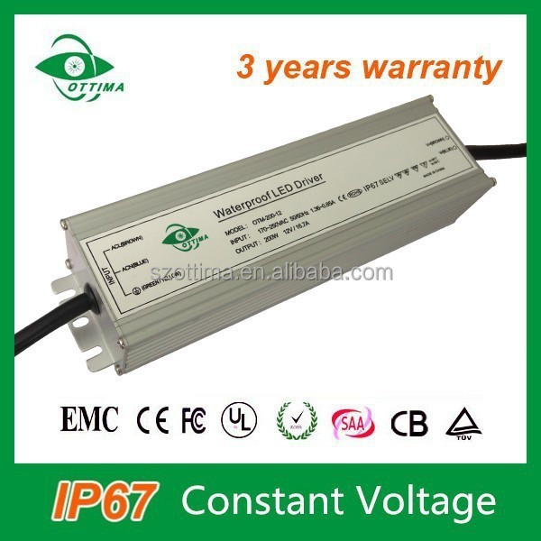 constant voltage waterproof 12v led driver ip67 200W