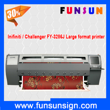 3.2m wide format Infiniti / Challenger FY-3286J inkjet solvent printer with 508GS heads