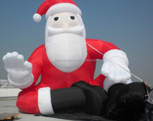 Hot sale inflatable sitting santa claus christmas balloon F1117