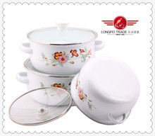 3pcs Mini Cooking Pot Enamel Reoona Casserole Sets