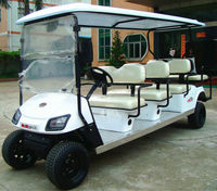 6 seater classical used electric car for golf with rear seat