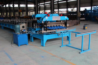 China supplier Colored glazed steel roof Tile roll forming machine prices