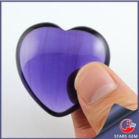 Heart Shape Purple Loose Gemstone Large Cabochon