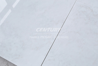 high quality white marble polished floor tile for sale