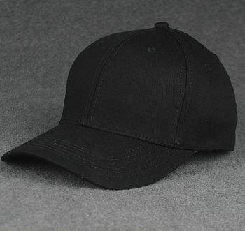 Fashion cotton material black baseball cap with closed back
