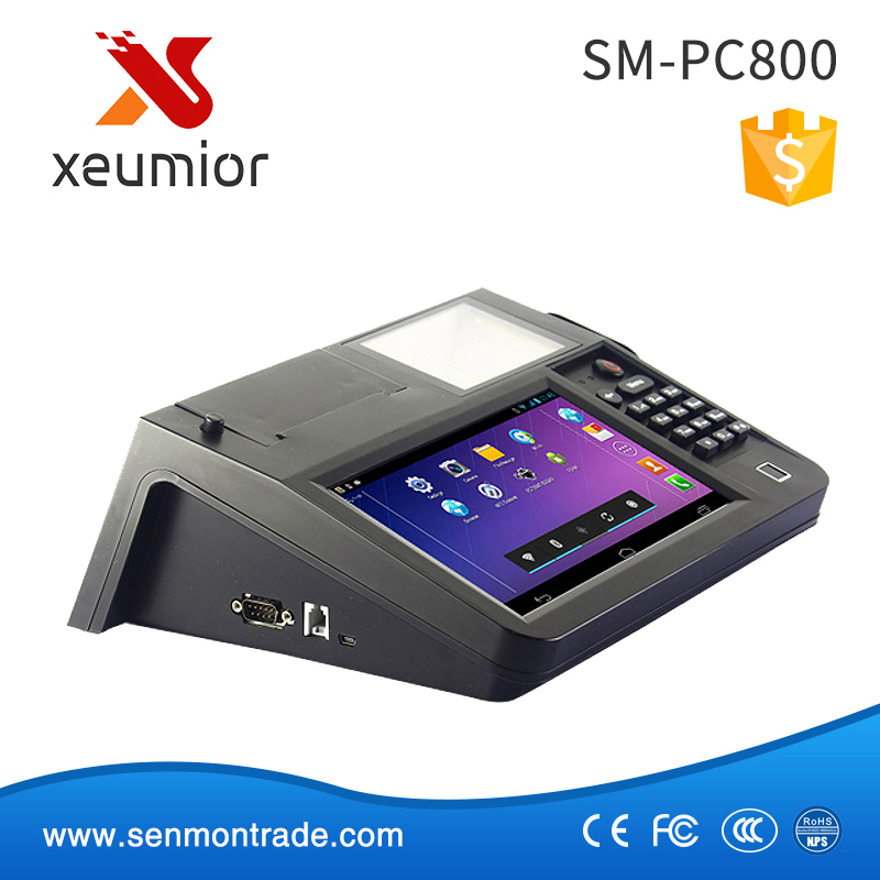 SM-PC800 8 Inch Touch Screen 3G WIFI NFC PSAM Android Billing Machine Price with Printer