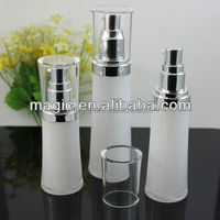 slim waist special acrylic lotion pump bottles plastic squeeze bottles lotion
