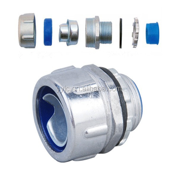 1/2'' Zinc Plum Flexible conduit connector for electrical