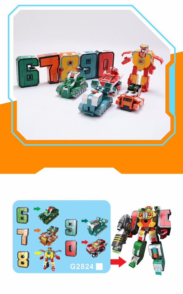 Hot selling china wholesale number deformation educational kit toy robots for children