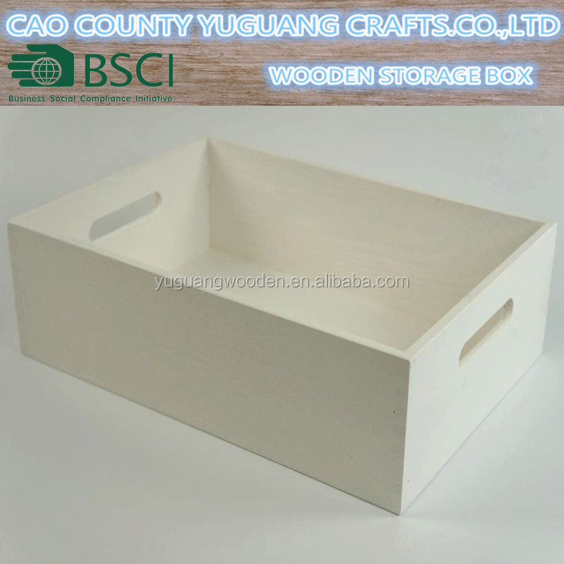 Rustic Wooden Laquered Crates White Decoupage Tray With Handles