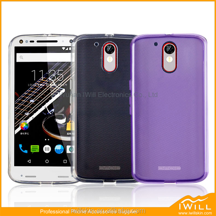 Ultra Slim Clear TPU Mobile Accessory For Moto G4 Plus Cover , Transparent TPU Gel For Moto G4 Plus Case