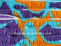 printed ruffled fabric,polyester spandex print jersey fabric