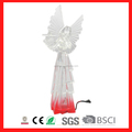 hot selling acrylic Christmas angels figurines with LED lighted