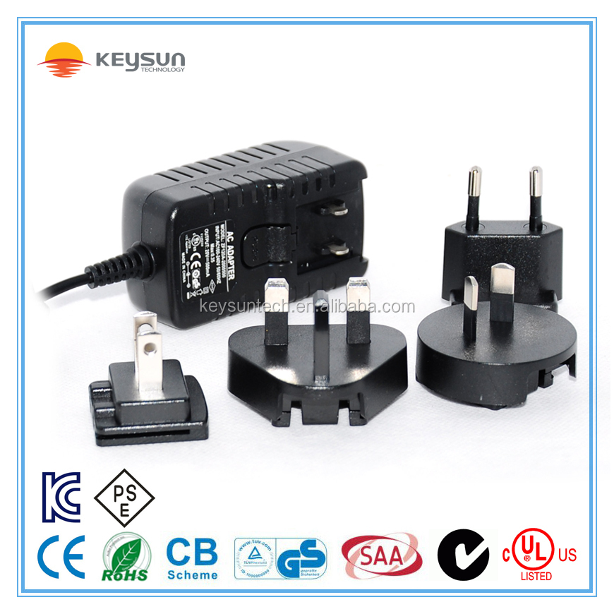 110v ac to 24v dc power supply 24vdc 500ma interchangeable plug power adapter
